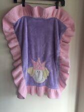 "New listing Boogie Baby Plush Pink & Purple Princess Baby Girl Blanket Euc 23"" x 27"""