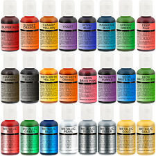 US Cake Supply Chefmaster Deluxe 24 Bottle Airbrush Cake Color Set in 0.7 fl.oz.