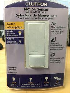 Lutron Single Pole Motion Sensor Switch - White