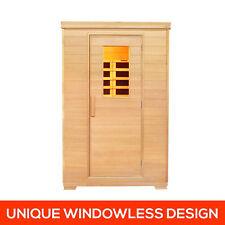2 Person Far Infrared Heater Detox Room Home Canadian Hemlock Sauna Cabin