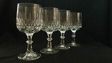 VTG SCHOTT ZWIESEL FLAMENCO Crystal Cut Knob Wine Glasses (4) 8.5oz/6 3/8