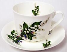 Lily of The Valley Large Cup & Saucer Bone China Lilies Breakfast Set Decor UK