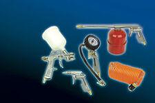 """Kit de herramientas Mannesmann 1/4"""" Compresor de aire <> <> 5 Piezas Pistola Rociadora/gauge/GS TUV"""