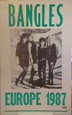 The Bangles Concert Poster - Europe 1987 Tour - Susanna Hoffs