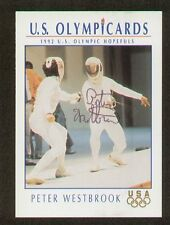 Peter Westbrook signed autograph auto 1992 Impel US Olympic Trading Card