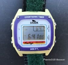 Vintage 1980's FREESTYLE Shark 805 300Ft Dive Surfing 38mm watch - New Battery