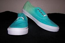 VANS Authentic Slim Men's Skaters (Ombre) Cloisonne/Icy Green Size 9.5 NWOB NICE