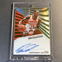 DOMINIQUE WILKINS 2018 PANINI REVOLUTION #AU-DWK AUTOGRAPH AUTO CARD NBA HOF