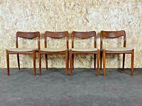 4x 60er 70er Jahre Teak Stühle Stuhl Dining Chair Johannes Andersen Uldum 60s