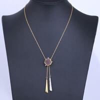 Alexis Bittar  Irregular Natural Stone Tassel Y-Shaped Short Necklaces