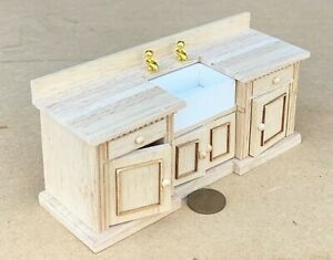 Natural Finish Sink Unit Tumdee 1:12 Scale Dolls House Kitchen Accessory 211