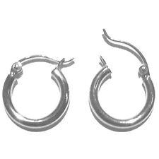 2mm by 14mm in Diameter E7214-66 14K White Gold Hoop Earring. New Width: