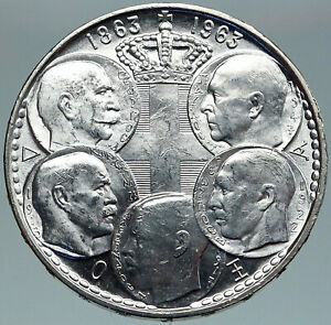 1963 GREECE PAUL GEORGE I II ALEXANDER CONSTANTINE Silver 30 Drachma Coin i87509