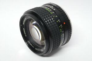 Minolta MC  Rokkor  PG 1,4  / 50 mm   Objektiv für analoge Minolta Modelle