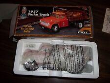 ERTL 1/25 1957 CHEVROLET STAKE TRUCK CASE DIE-CAST STOCK# 426 TASKMASTER V8 NIB