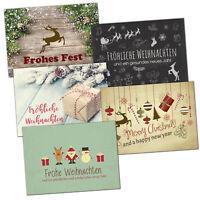 30 Weihnachtskarten Set mit Umschlag Grußkarten Weihnachten nostalgisch modern
