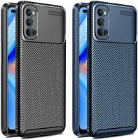 For Oppo Reno4 Pro 5G, Reno 4 Z 5G Case Slim Carbon Fibre Shockproof Phone Cover