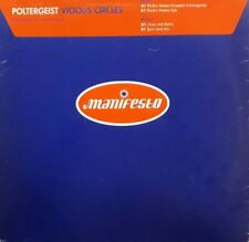 "Poltergeist-Vicious Circles Blue Vinyl 12"" Single.1996 Manifesto POLDJ1."