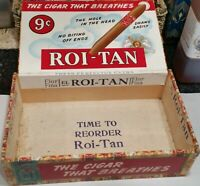 9c Vintage El Roi-Tan Mild Cigars Cigar Box The American Tobacco Co. Sold Empty