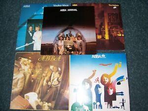 Job Lot. 5 X ABBA LP's/Arrival/Visitors/VoulezVous/The Album/ABBA