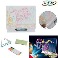 Activities Magic Drawing Board Children Toys Boys Girls Pen 3D Glasses gift