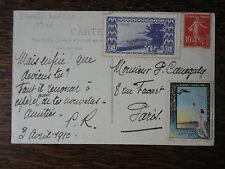 AVIATION.CARTE POSTALE DE L'ESTEREL AVEC VIGNETTE CANNES AVIATION.1910..