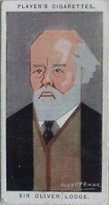 Single: No.38 SIR OLIVER LODGE - STRAIGHT LINE CARICATURES - John Player 1926