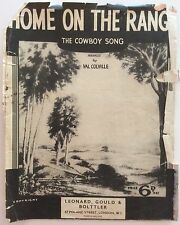 Home On The Range: The Cowboy Song.  Sheet Music.  Arranged By Val Colville