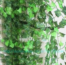 7.8 FT artificiale verde Ivy leaf Garland piante di vite fogliame HOME DECOR FIORI