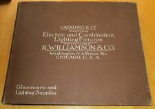 Early 1900s 392-page R. Williamson lighting fixtures catalog No. 17