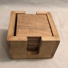 Handcrafted Natural Wooden Set of 6 Coasters