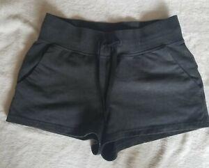 Lululemon Loop Back Acid Rubber dye Black Shorts Size 6