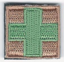 """1 """" x Vert Sur Fauve Medic Paramédical Crochet Côté Fermeture Patch"""