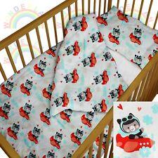 baby BEDDING set crib cot little pilot DUVET bumper MOSES BASKET sheet BOY