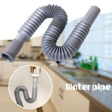 31-80cm Plastic Siphon Flexible Hose Pipe For Sink Drain Sink-home Parts Replace