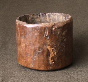 Vintage Hand Carved Pot