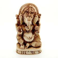 "GANESHA STATUE 7"" Hindu Elephant God HIGH QUALITY Resin Seated Ganesh India NEW"