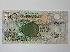 """1983 Seychelles 50 Rupees Banknote """"Star Trek Enterprise"""" Turtle-P-30a-Cool S/N"""