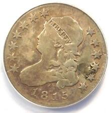 1815 Capped Bust Quarter 25C - ANACS VG10 Details - Rare Coin - Scarce Date!