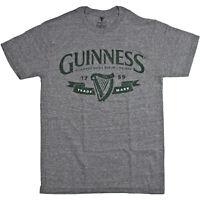 "Guinness Official Men's ""Trademark"" Logo Crew Neck Short Sleeve T-Shirt"