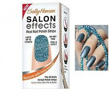 Sally Hansen Salon Effects Real Nail Polish Strips 280 Blue Ice NIB