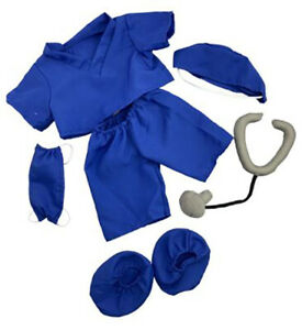 Adorable Dark Blue Scrubs with Accessories Fits Most 16 inch Build A Bear and Ma