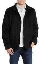 Billy Reid Men's Rabbit Fur Wool Cashmere Quail Black Coat Leather Size Medium