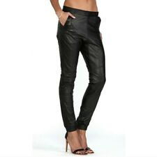 ONE TEASPOON Retro Slouch LEATHER Hipster TRACK PANTS 8/XS Boho Gypset
