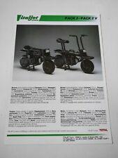 Prospectus Catalogue Brochure Moto Italjet Pack 2 de 1984