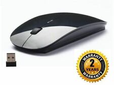 Terabyte Ultra Slim Wireless Mouse 2.4 GHz Nano Receiver Black Premium