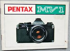 PENTAX MV 1 INSTRUCTION MANUAL