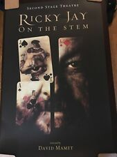 RICKY JAY On The Stem POSTER Magic Magician 2 feet x 3 feet large David Mamet