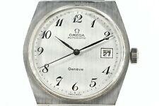 OMEGA Geneve Vintage Automatik Date HAU Ref 160118 Cal 1481 35mm Stahl Leder