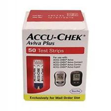 50 Accu-Chek Aviva Plus Test Strips Accucheck Exp 2019 Ships Free! Dents